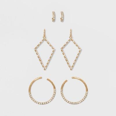 23df404ed88a SUGARFIX by BaubleBar Graphic Earring Gift Set – Clear – BrickSeek