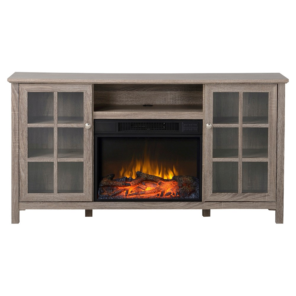 Provence Media Stand Fireplace Reclaimed Wood 60 - Homestar