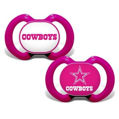 NFL Dallas Cowboys Pink Pacifiers 2pk