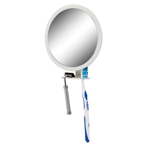 Shower Mirror White With Accessory Holder 5x 1x Zadro Z Fogless Target