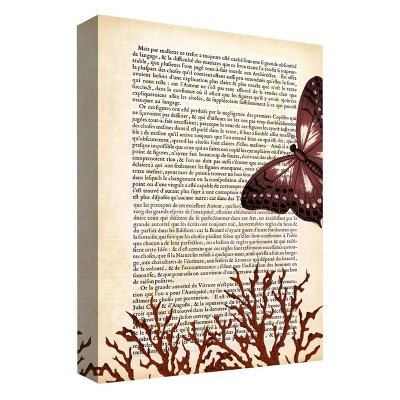 "11"" x 14"" A Butterfly Story III Decorative Wall Art - PTM Images"