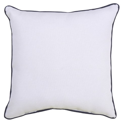 Outdoor Throw Pillow Square - Blue/White - Threshold™ - image 1 of 3