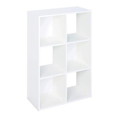 Closetmaid 899600 Decorative Home Stackable 6 Cube Cubeicals Organizer Storage in White with Hardware for Home, Office, Closet, or Toys