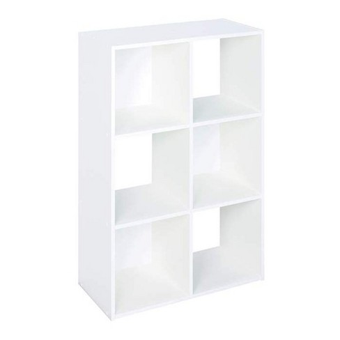 Closetmaid 899600 Decorative Home Stackable 6 Cube Cubeicals Organizer Storage in White with Hardware for Home, Office, Closet, or Toys - image 1 of 4