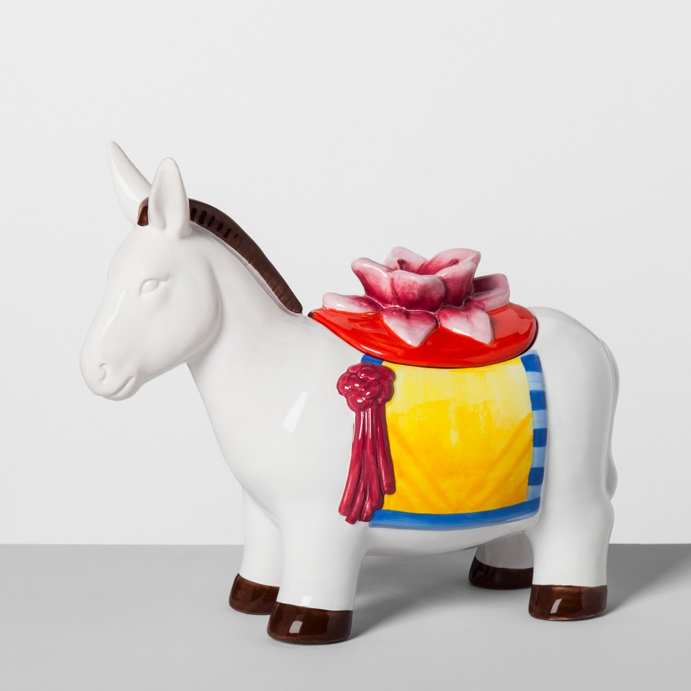 Donkey Ceramic Cookie Jar White - Opalhouse