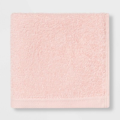 Everyday Solid Washcloth Light Pink - Room Essentials™