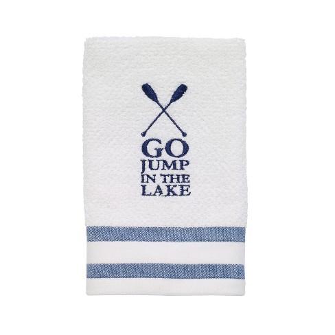 Lake Words Fingertip Towel Whiteblue Avanti Target