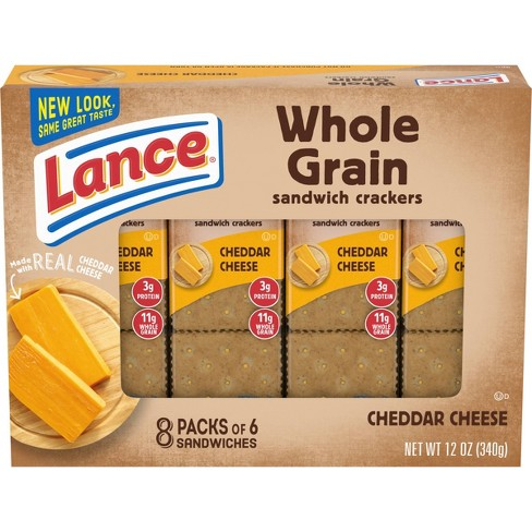 Lance Real Cheddar Cheese Whole Grain Cracker Sandwiches - 12 oz - image 1 of 4
