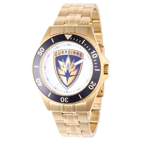 Men's Marvel® Guardians Of The Galaxy Vol. 2 Honor Stainless Steel Watch - Gold - image 1 of 2