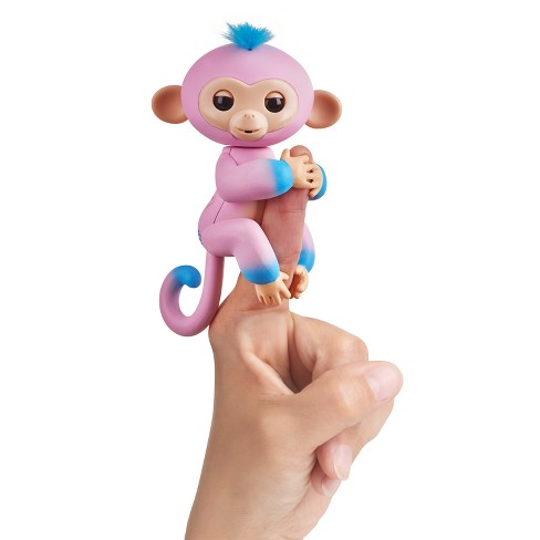 Fingerlings Interactive Monkey 2-Tone - Pink to Turquoise - Candi - image 1 of 7