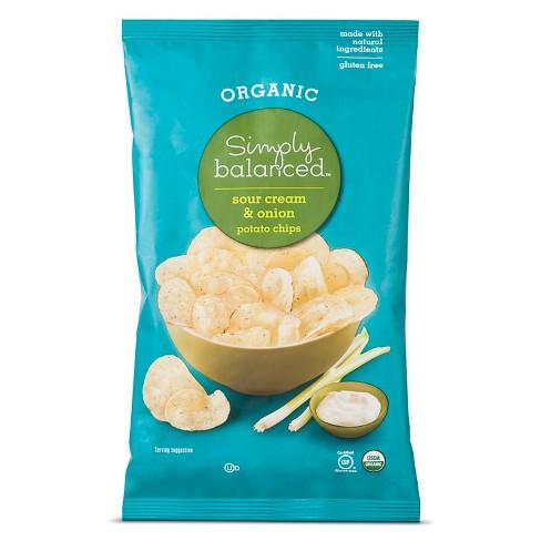 153 Sour Cream Onion Potato Chips 5oz Simply Balanced Target