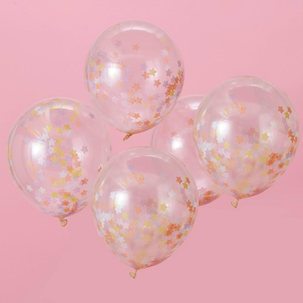 "Image of ""12"""" Confetti Unicorn Balloons, Kids Unisex, Silver"""