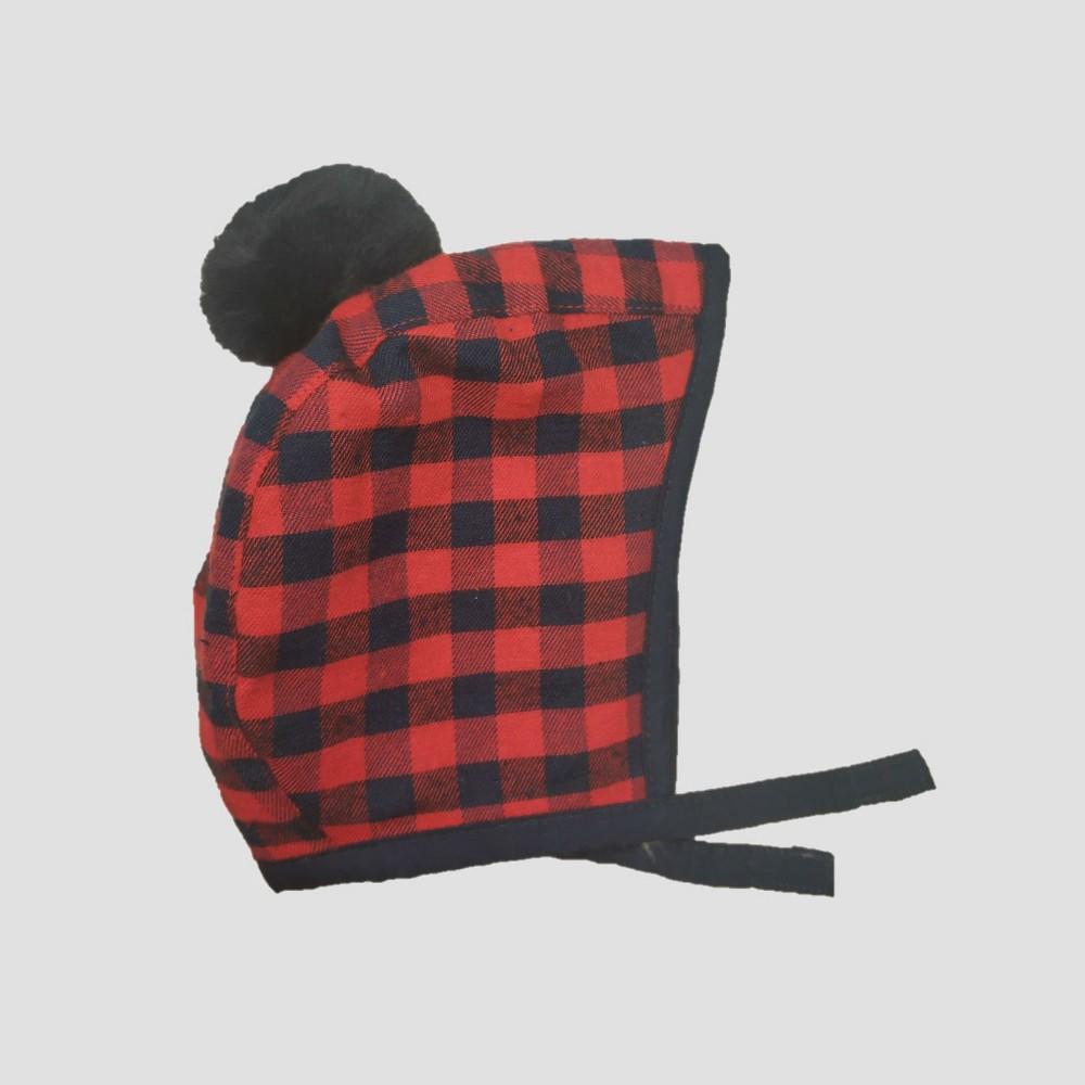 Baby Boys' Plaid Bonnet - Cat & Jack Red Newborn, Multicolored