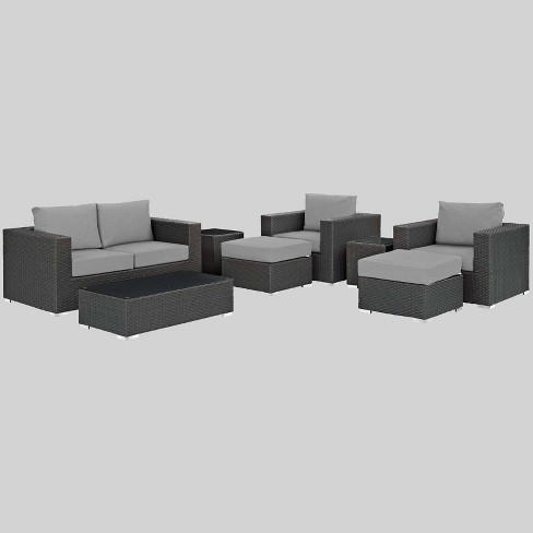 Sojourn 8pc Outdoor Patio Sectional Set