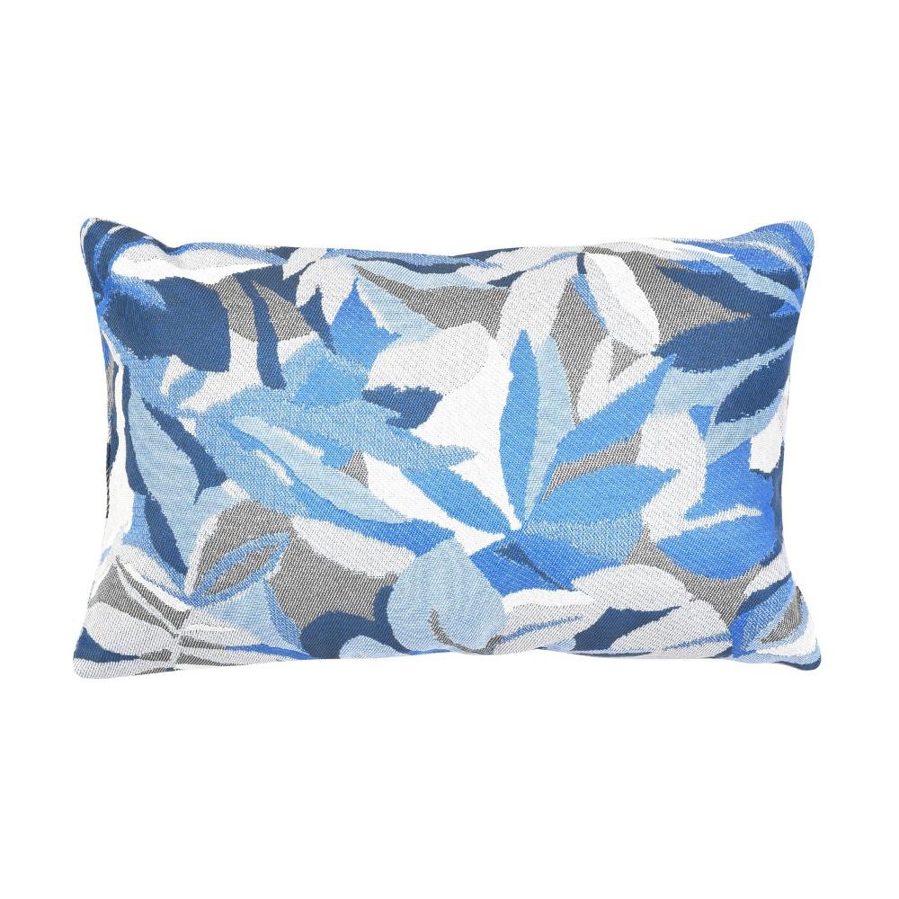 Pacifica Lumbar Throw Pillow Dewey Blue Astella