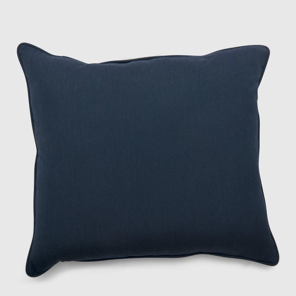 Outdoor Double Welt Deep Seat Pillow Back Cushion Sunbrella Spectrum Indigo (Blue) - Smith & Hawken