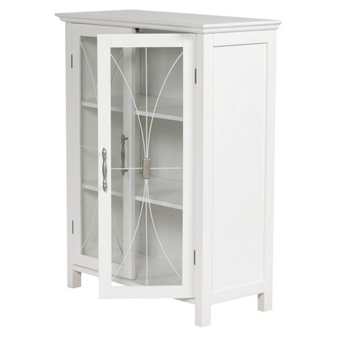 1d47a2ad791ac Fashions Symphony 2 Door Floor Cabinet White - Elegant Home Fashions    Target
