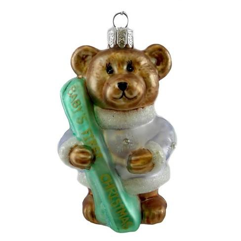 Holiday Ornament Teddy Bear Christmas First Christmas Girl Tree Ornaments Target