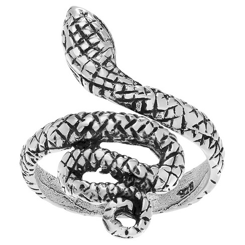 Women's Journee Collection Adjustable Snake Toe Ring in Sterling Silver - Silver - image 1 of 3