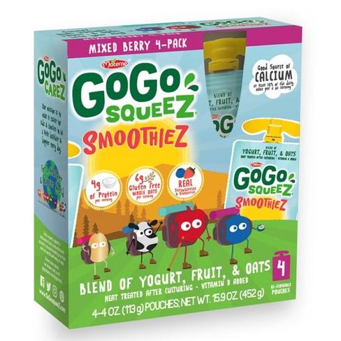 GoGo squeeZ Kids' SmoothieZ, Mixed Berry - 4oz/4ct - image 1 of 3