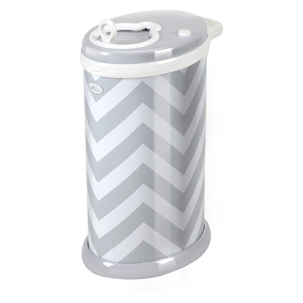 Ubbi Chevron Diaper Pail - Gray