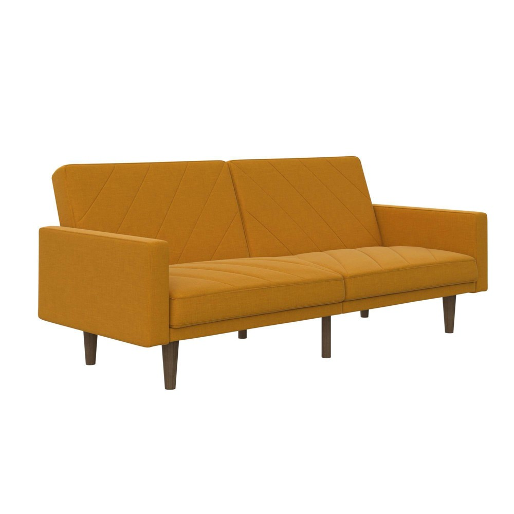 Felix Linen Futon Yellow Medium - Room & Joy