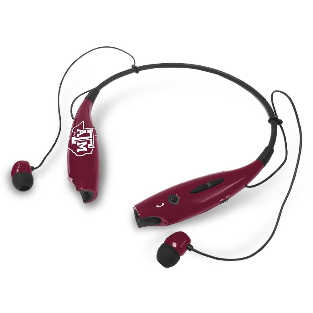 NCAA Prime Bluetooth Neck Ear Buds Texas A&M Aggies, White