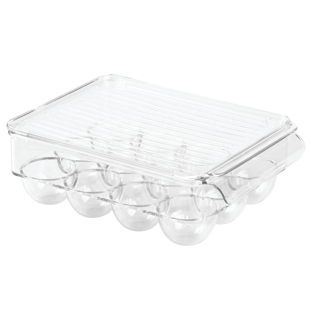 Image of InterDesign Fridge Binz 12-Egg Holder with Lid Small Clear
