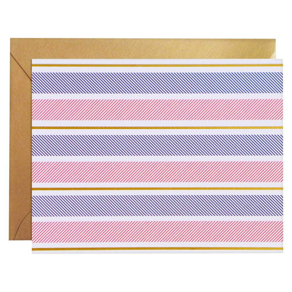 Image of 8ct Mixed Stripe Notecards