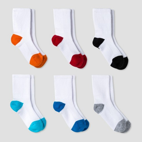 Toddler Boys' Athletic Crew Socks 6pk - Cat & Jack™ Multicolor - image 1 of 1