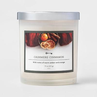 11oz Glass Jar Candle Cashmere Cinnamon - Threshold™
