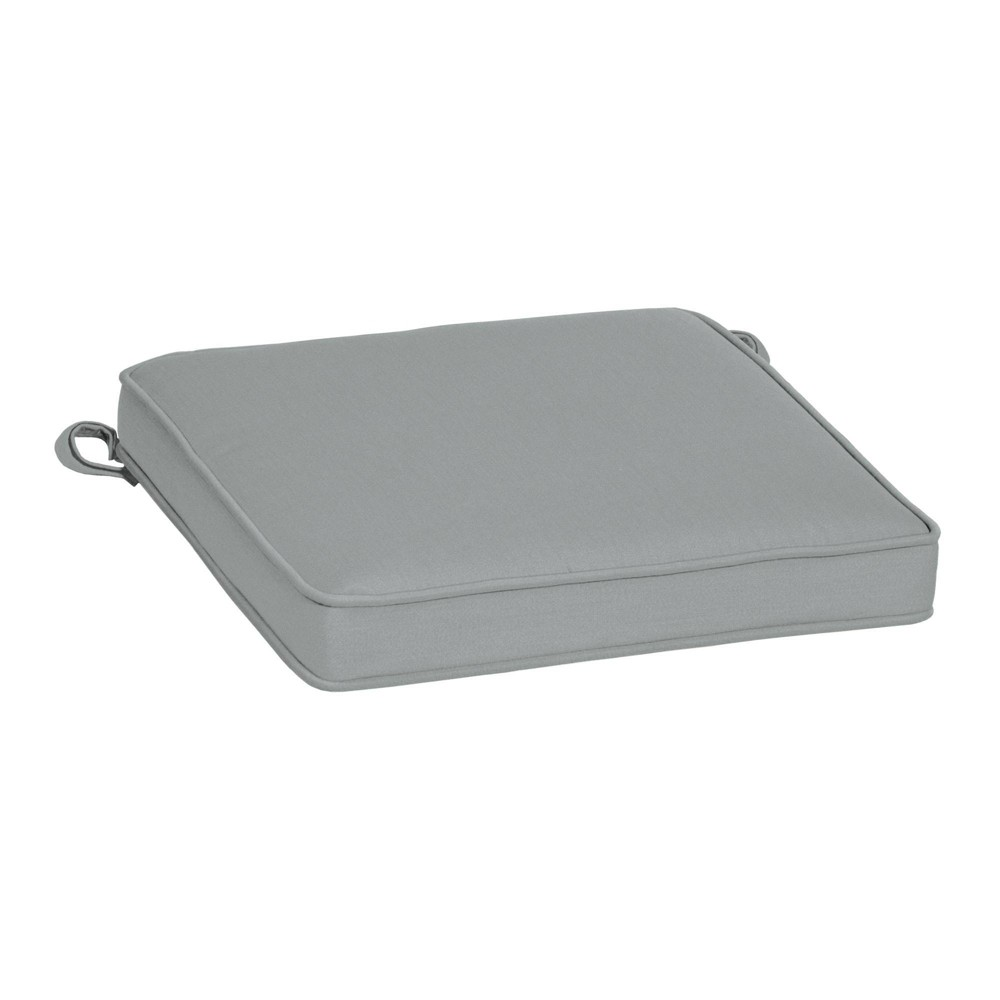 19 34 X 19 34 Outdoor Seat Cushion Silver Gray Arden Selections
