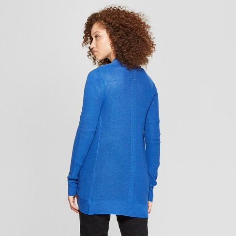 a9c36cb2e8 Women s Cocoon Cardigan - A New Day™ Blue XXL   Target