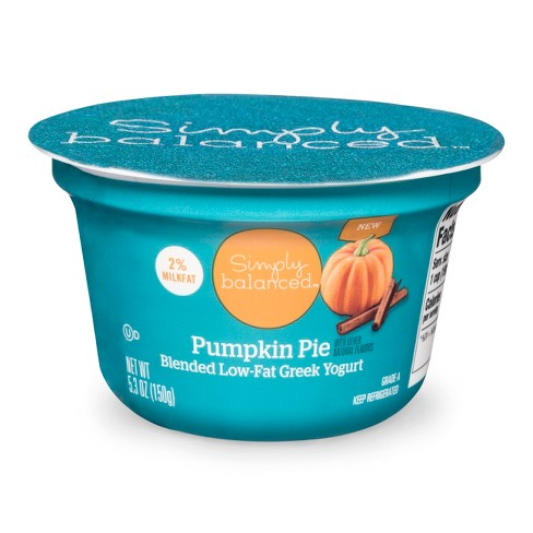 2% Pumpkin Greek Yogurt - 5.3oz - Simply Balanced™ - image 1 of 1