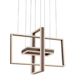 "Possini Euro Design Kate 31 1/2""W Bronze Multi Rectangular LED Pendant Light"