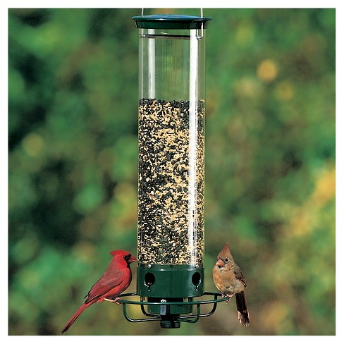 "Droll Yankees Yankee Flipper Motorized Squirrel Proof Bird Feeder - Green - 21"" - image 1 of 2"