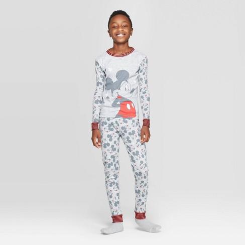 Boys' Mickey Mouse 2pc Pajama Set - Gray - image 1 of 3