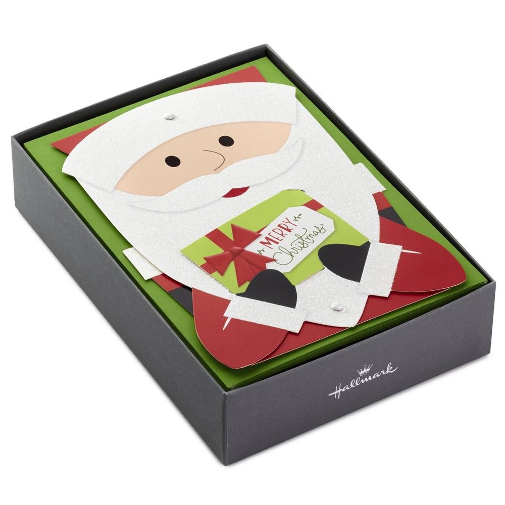 Image of 12ct Hallmark Santa Displayable Greeting Cards