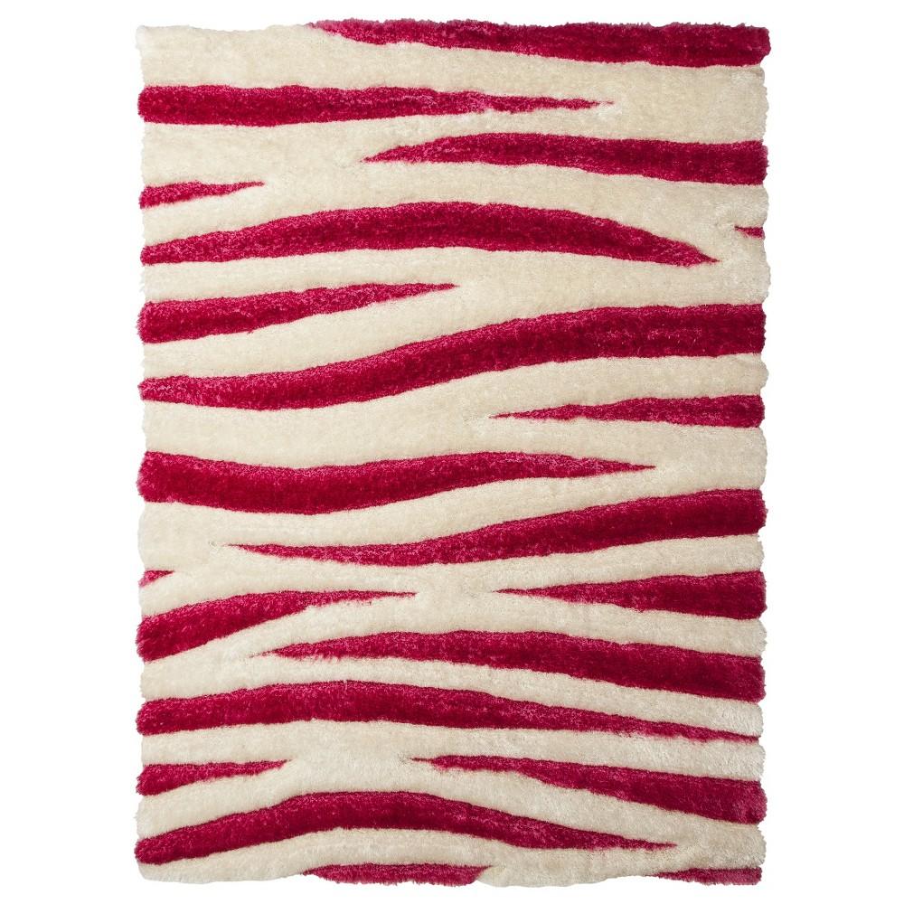 5'x7' Zebra stripe Area Rug Pink