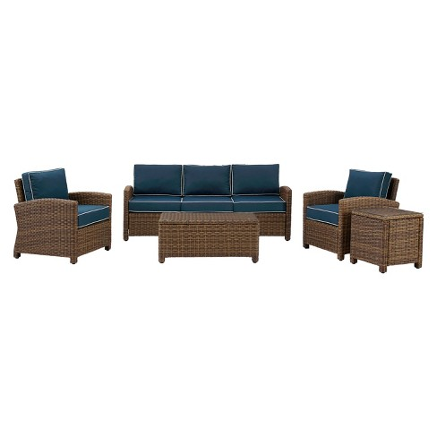 Bradenton 5pc All-Weather Wicker Patio Sofa Conversation Set - Crosley - image 1 of 4