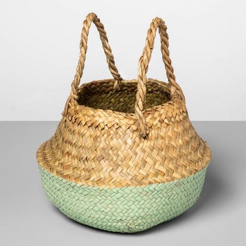 "Decorative Pop Up Belly Basket Natural Mint 8.85""x8"" - Opalhouse™ - image 1 of 3"