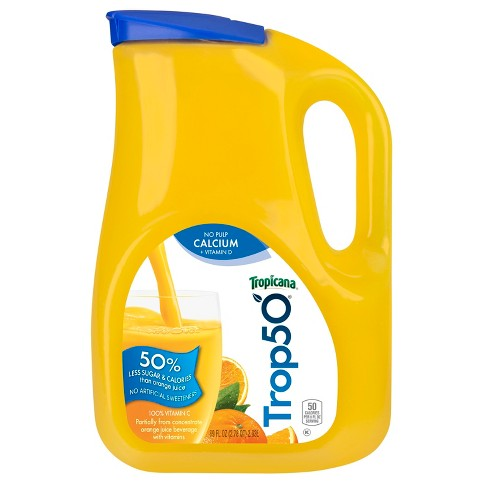 Tropicana Trop50 No Pulp Calcium & Vitamin D Orange Juice - 89 fl oz - image 1 of 1