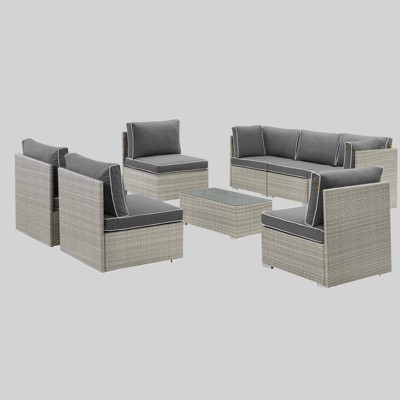 Repose 8pc Outdoor Patio Sectional Set - Modway