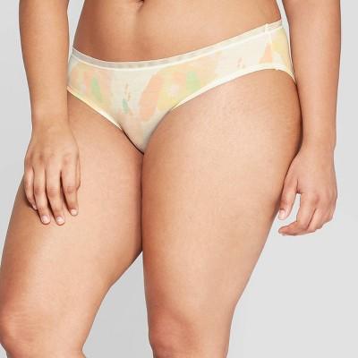 Women's Modal Bikini with Mesh Waistband - Auden™ Multi Abstract Print M