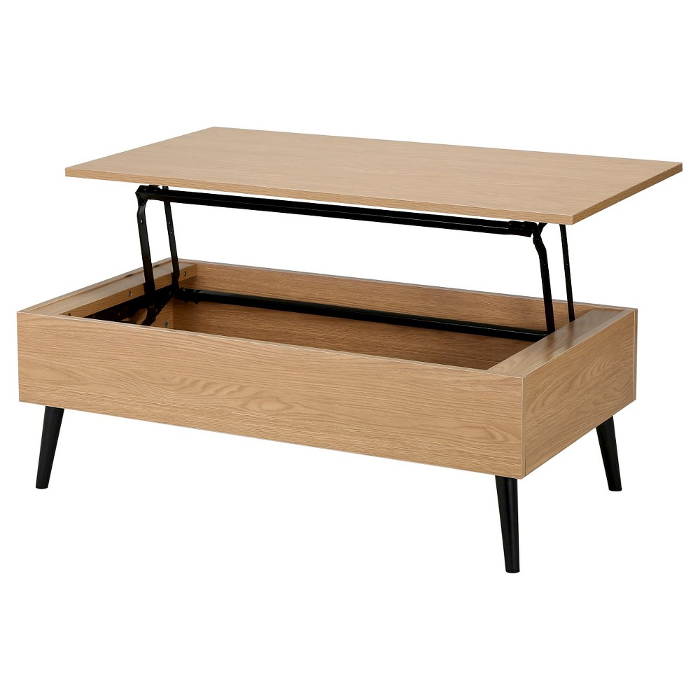 Christopher Knight Home Elliot Wood Lift-Top Storage Coffee Table - Oak (Brown)