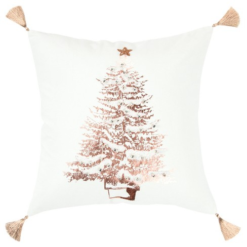 Christmas Tree Decorative Filled Oversize Square Throw Pillow - Rizzy Home - image 1 of 4