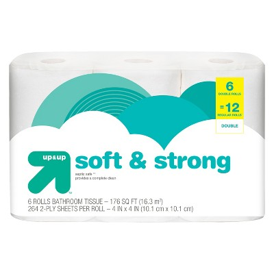 Soft & Strong Toilet Paper - 6 Double Rolls - Up&Up™