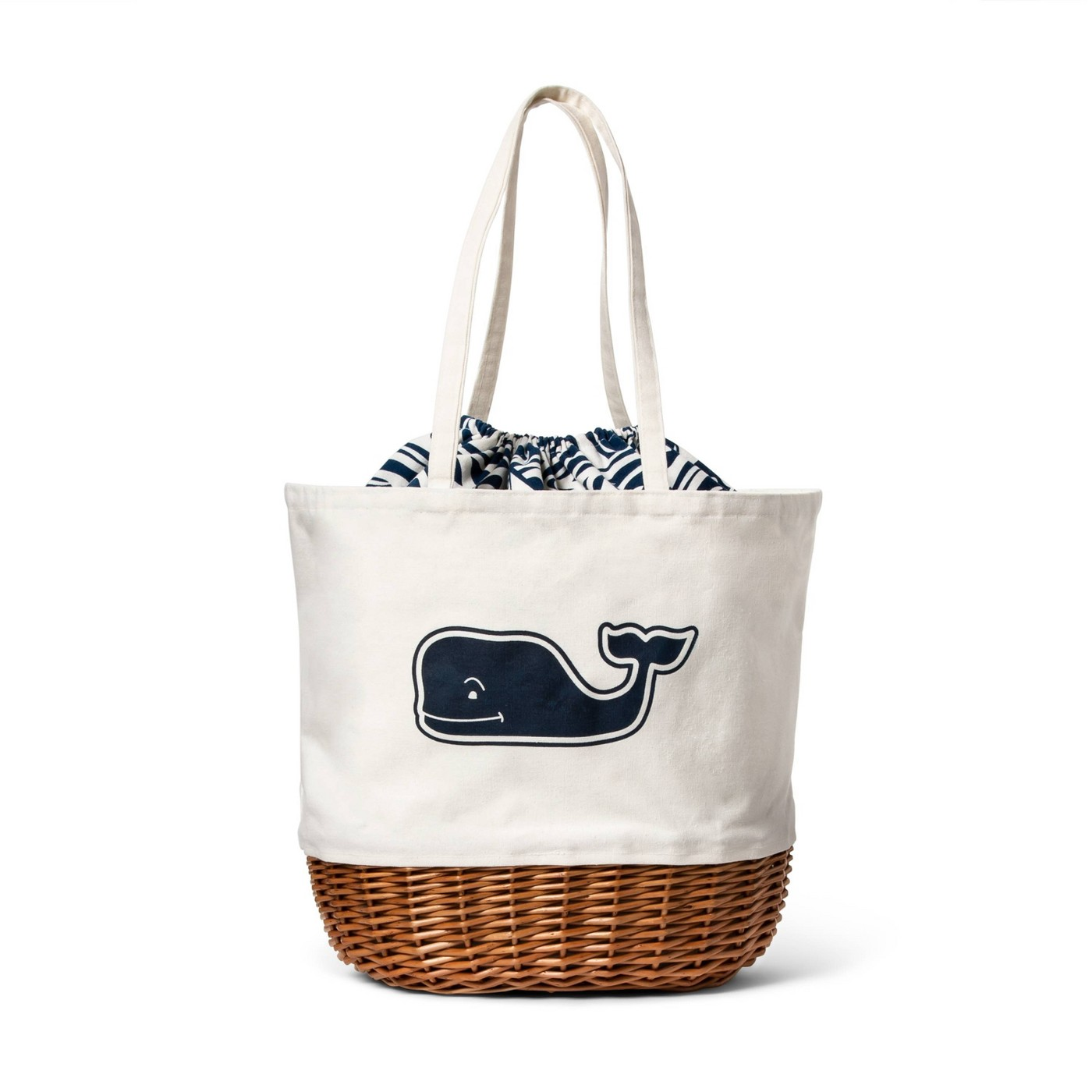Whale Picnic Tote with Rough Seas Lining - Navy/White - vineyard vines® for Target - image 1 of 5