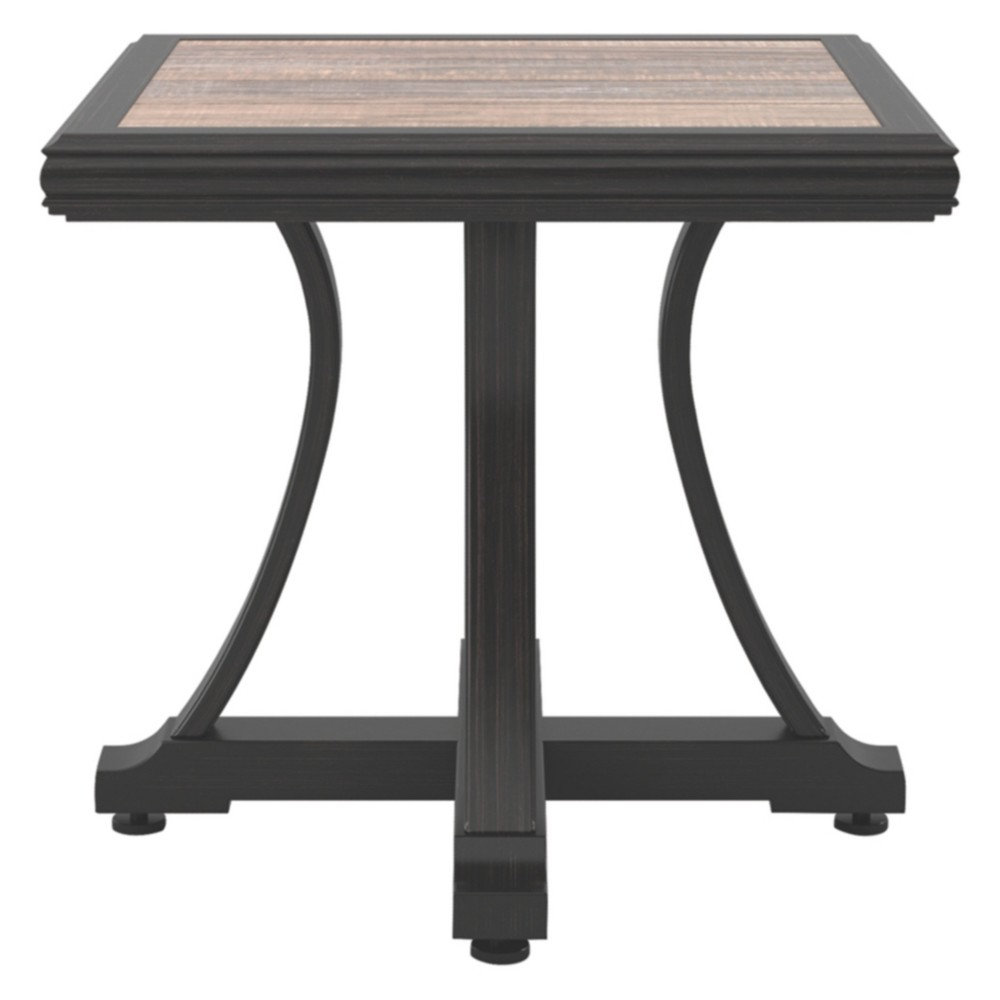 Marsh Creek Square End Table - Brown - Outdoor by Ashley