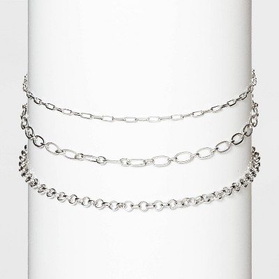 Delicate Chain Necklace Set 3pc - Wild Fable™ Silver